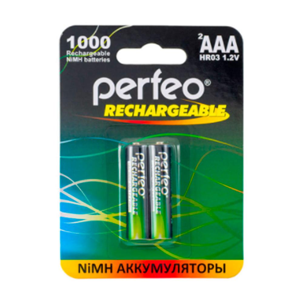 Ак-р R03 NiMh 1000mAh Perfeo, BL2